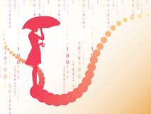 Abstract background with woman's silhouette Stock Images