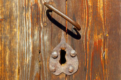 Abstract background of a wooden door. Stock Photography