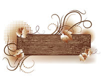 Abstract background with wooden texture. For various design artwork Royalty Free Stock Photos