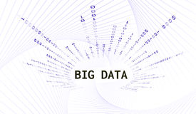 Abstract background with the words big data and vertical binary code. Vector illustration. Stock Photo