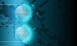 Abstract background. With the words informatics, computing Stock Photography