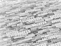 Abstract background from words success. 3d Royalty Free Stock Photos