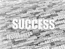 Abstract background from words success. 3d. Abstract background from words success on white background. 3d Stock Illustration