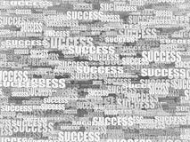 Abstract background from words success. 3d Royalty Free Stock Image