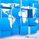Abstract background with worl map Royalty Free Stock Images