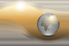 Abstract background with world globe royalty free illustration