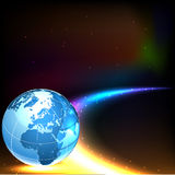 Abstract background with world globe. Royalty Free Stock Image
