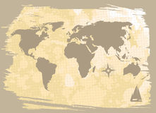 Abstract background with world-map Royalty Free Stock Images