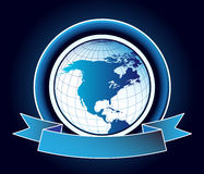 Abstract background with world map stock illustration