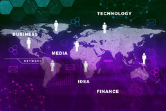 Abstract background with world map Stock Photos