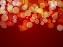 Abstract background - xmas lights. Abstract background - red background and blurry lights Stock Photo