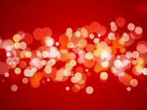 Abstract background - xmas lights Royalty Free Stock Photo