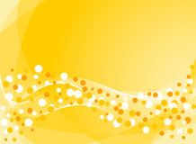 Abstract background in yellow. Vector-Illustration Stock Photo
