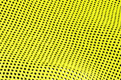 Abstract background of yellow and black holes in row Royalty Free Stock Photography