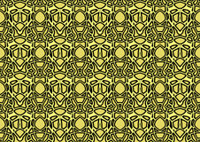 Abstract background in yellow and black tones. Abstract backdrop with ornament from repeated patterns in yellow and black tones, colorful background for  poster Stock Photography