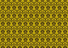 Abstract background in yellow and black tones. Abstract backdrop with ornament from repeated patterns in yellow and black tones, colorful background for  poster Stock Photos