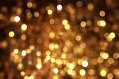 Abstract background Yellow bokeh lights would suit for Christmas theme. Abstract background Yellow bokeh lights would suit a Christmas theme Stock Photos