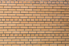Abstract background of yellow brickwork. Brick wall. Royalty Free Stock Image