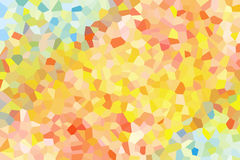 Abstract background of yellow, brown and blue as crystals. Stock Image