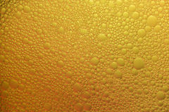 Abstract background of yellow bubbles Stock Image