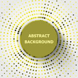 Abstract background with yellow circles halftone Royalty Free Stock Images