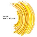 Abstract background with yellow colorful curved lines in a chaotic order. Royalty Free Stock Photos