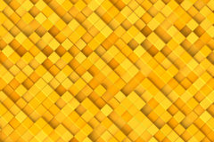 Abstract background. Yellow cubes, top view Stock Image