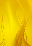 Abstract background yellow curves. Stock Images