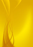 Abstract Background Yellow Curves. Royalty Free Stock Images