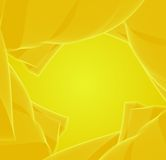 Abstract background. Yellow background, abstract design, green  swirl, banner Stock Images