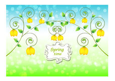Abstract background with yellow flowers Stock Photography