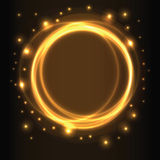 Abstract background, yellow glowing circles Stock Photos