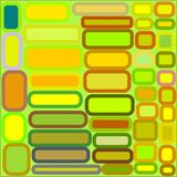 Abstract background in yellow, green, orange, brown rectangles with stroke. Abstract background on green geometric shapes rectangles and squares of yellow, green royalty free illustration