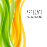 Abstract background with yellow and green waves Royalty Free Stock Photography