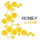 Background with yellow honeycomb. Vector illustration stock illustration
