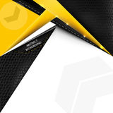 Abstract  background with yellow lines and leather texture Royalty Free Stock Photo