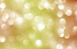 Abstract background with yellow and orange bokeh Stock Image