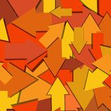 Multi Directional Arrows Abstract Background. An abstract background of yellow, orange, and reddish arrows, pointing in different direction royalty free illustration