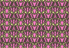 Abstract background in yellow and pink tones. Abstract backdrop with ornament from repeated patterns in yellow and pink tones, colorful background for  poster Stock Photos