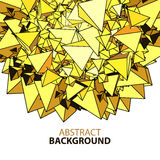 Abstract background with yellow polygonal figures with space. For text Royalty Free Stock Image