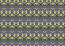 Abstract background in yellow and purple tones. Abstract backdrop with ornament from repeated patterns in yellow and purple tones, colorful background for Stock Image