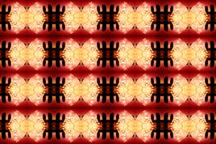 Abstract background yellow red black. A kaleidoscope of glowing ice particles in the form of bows. Abstract Structured background yellow red black. A royalty free stock image