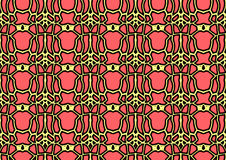 Abstract background in yellow and red tones. Abstract backdrop with ornament from repeated patterns in yellow and red tones, colorful background for  poster Royalty Free Stock Photos