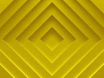 Abstract background. Yellow rhombuses. For. Graphic design, book cover template, business brochure, website template design. 3D illustration Stock Photos