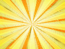 Abstract background. In yellow tones in the form of rays and light Stock Photography