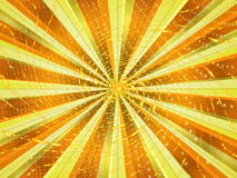 Abstract background. In yellow tones in the form of rays and light stock illustration