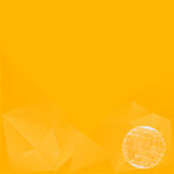 Abstract background in yellow tones. Vector icons. Abstract Creative concept vector background Royalty Free Stock Images
