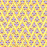 Abstract background with yellow and violet triangles, vector illustration. Royalty Free Stock Photography