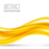 Abstract background with yellow wave. Abstract background with yellow elements Royalty Free Stock Images