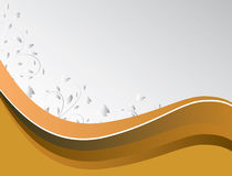 Abstract background of yellow waves.  vector illustration
